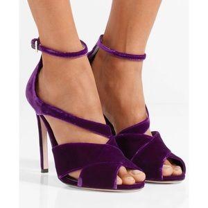 Brand new, never worn velvet Prada heels.